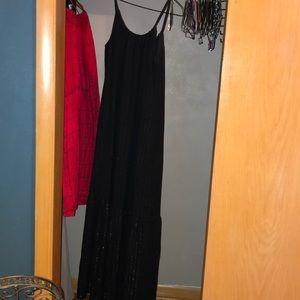 Maxi black and gold dress